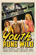 "Movie Posters:Exploitation, Youth Runs Wild (RKO, 1944). One Sheet (27"" X 41"").. ..."