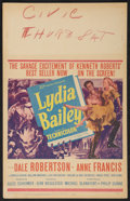 "Movie Posters:Adventure, Lydia Bailey Lot (20th Century Fox, 1952). Window Cards (2) (14"" X22""). Adventure.. ... (Total: 2 Items)"