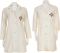 Movie/TV Memorabilia:Costumes, V Television Series Screen-Used Costume Lab Coats....(Total: 2 Items)