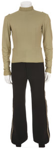 Movie/TV Memorabilia:Costumes, Star Trek - DeForest Kelley's Duty Uniform Undershirt withStunt Pants.... (Total: 2 Items)
