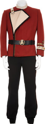 Star Trek Film Series Starfleet Officer's Uniform with Jacket and Shirt Worn by William Shatner as Admi