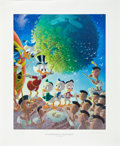 Original Comic Art:Miscellaneous, Carl Barks An Astronomical Predicament Regular EditionLithograph #77/345 (Another Rainbow, 1990).... (Total: 3 Items)