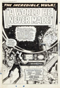 Original Comic Art:Splash Pages, Marie Severin and Herb Trimpe Tales to Astonish #95 HulkSplash Page 1 Original Art (Marvel, 1967)....