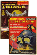 Magazines:Horror, Monsters and Things #1 and 2 Group (1959) Condition: Average VG.... (Total: 2 Comic Books)