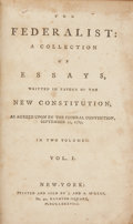 Books:First Editions, [Alexander Hamilton, James Madison, and John Jay]. TheFederalist: A Collection of Essays, Written in Favour of the New...