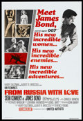 "Movie Posters:James Bond, From Russia with Love (United Artists, R-1980). One Sheet (27.75"" X40.5""). James Bond.. ..."