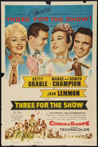 """Three for the Show (Columbia, 1954). One Sheet (27"""" X 41""""). Musical"""