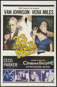 "23 Paces to Baker Street (20th Century Fox, 1956). One Sheet (27"" X 41""). Mystery"