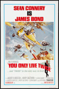"Movie Posters:James Bond, You Only Live Twice (United Artists, R-1980). One Sheet (27"" X 41"") Style B. James Bond.. ..."