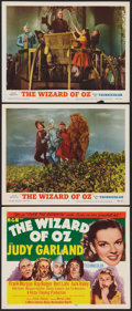"""Movie Posters:Fantasy, The Wizard of Oz (MGM, R-1955). Title Lobby Card and Lobby Cards (2) (11"""" X 14""""). Fantasy.. ... (Total: 3 Items)"""