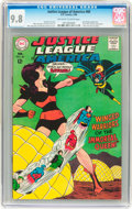 Silver Age (1956-1969):Superhero, Justice League of America #60 (DC, 1968) CGC NM/MT 9.8 Off-white towhite pages....