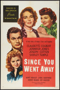 "Movie Posters:Drama, Since You Went Away (Selznick Releasing, R-1956). One Sheet (27"" X 41""). Drama.. ..."