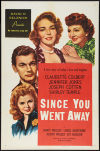 "Since You Went Away (Selznick Releasing, R-1956). One Sheet (27"" X 41""). Drama"