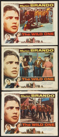 """Movie Posters:Drama, The Wild One (Columbia, 1953). Lobby Cards (3) (11"""" X 14""""). Drama.. ... (Total: 3 Items)"""