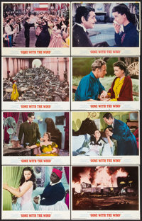 """Gone with the Wind (MGM, R-1968 and R-1974). Lobby Cards (8) (11"""" X 14""""). Academy Award Winners. ... (Total: 8..."""
