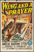 "Movie Posters:War, Wing and a Prayer (20th Century Fox, 1944). One Sheet (27"" X 41"").War.. ..."