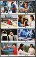 """Movie Posters:Action, Superman III (Warner Brothers, 1983). Lobby Card Set of 8 (11"""" X14""""). Action.. ... (Total: 8 Items)"""