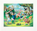 Original Comic Art:Miscellaneous, Carl Barks Holiday in Duckburg Regular Edition Lithograph#77/345 (Another Rainbow, 1989).. ... (Total: 2 Items)