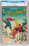 Golden Age (1938-1955):Superhero, World's Finest Comics #57 (DC, 1952) CGC VF/NM 9.0 White pages....