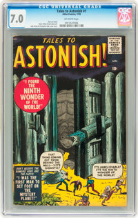 Tales to Astonish #1 (Marvel, 1959) CGC FN/VF 7.0 Off-white pages