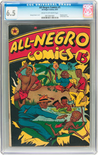 All-Negro Comics #1 (All-Negro Comics, 1947) CGC FN+ 6.5 Cream to off-white pages