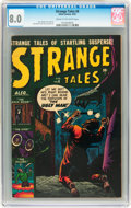Golden Age (1938-1955):Horror, Strange Tales #6 (Atlas, 1952) CGC VF 8.0 Cream to off-whitepages....