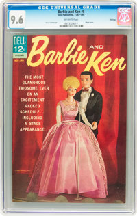 Barbie and Ken #5 File Copy (Dell, 1964) CGC NM+ 9.6 Off-white pages