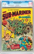 Golden Age (1938-1955):Superhero, Sub-Mariner Comics #1 (Timely, 1941) CGC VF- 7.5 Off-white pages....