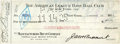Baseball Collectibles:Others, 1925 Jacob Ruppert and Ed Barrow Signed Check....