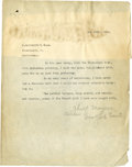 "Baseball Collectibles:Others, 1914 Chief Myers Signed Letter To ""P. Goldsmith's And Sons.""..."