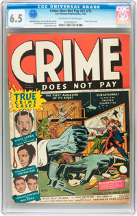 Crime Does Not Pay #22 (Lev Gleason, 1942) CGC FN+ 6.5 Off-white to white pages
