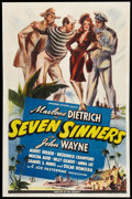 "Movie Posters:Adventure, Seven Sinners (Universal, 1940). One Sheet (27"" X 41"") Style D.Adventure.. ..."