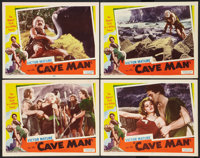 """One Million B.C. (Favorite Films, R-1947). Lobby Cards (4) (11"""" X 14"""") Rereleased as Cave Man. Fantasy. ... (T..."""