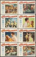 "Movie Posters:Adventure, The Naked Jungle (Paramount, 1954). Lobby Card Set of 8 (11"" X14""). Adventure.. ... (Total: 8 Items)"