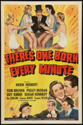 """Movie Posters:Comedy, There's One Born Every Minute (Universal, 1942). One Sheet (27"""" X 41""""). Comedy.. ..."""