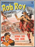"Movie Posters:Adventure, Rob Roy, the Highland Rogue (RKO, 1954). Danish Poster (24"" X 33"").Adventure.. ..."