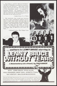 """Lenny Bruce without Tears (Fred Baker Films, 1972). One Sheet (27"""" X 41""""). Documentary"""