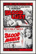 """Movie Posters:Horror, Blood Mania/Blood Lust Combo (Crown International, 1970). One Sheet(27"""" X 41"""") Flat Folded. Horror.. ..."""