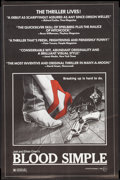 "Movie Posters:Thriller, Blood Simple (Circle Films, 1985). Poster (24"" X 37""). Thriller..... (Total: 2 Items)"