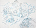 animation art:Production Drawing, John Kricfalusi (attributed) The New Adventures of MightyMouse Animation Layout Drawing Original Art (c. 1988)....