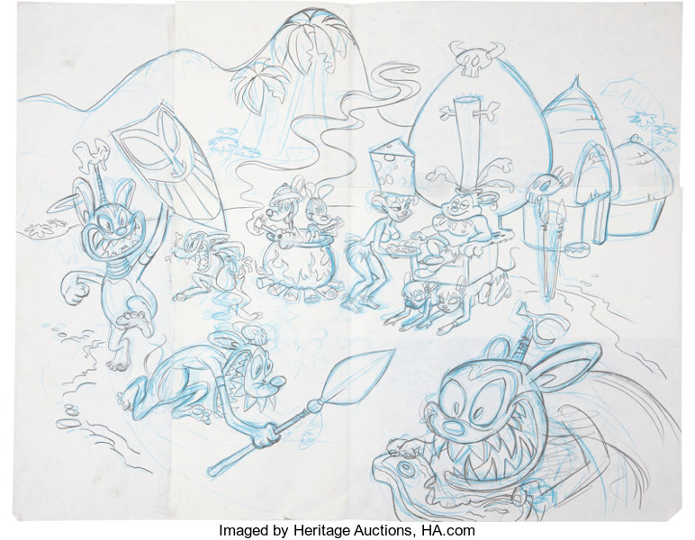 Animation ArtProduction Drawing John Kricfalusi Attributed The New Adventures Of MightyMouse