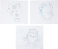 animation art:Production Drawing, Ren & Stimpy Animation Original Art Group (Spumco,undated).... (Total: 8 Items)