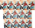 Hockey Collectibles:Photos, Martin Brodeur Signed Photographs Lot of 13....