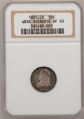 Bust Dimes, 1830/29 10C Weak Overdate XF40 NGC. NGC Census: (2/29). PCGSPopulation (2/21). Mintage: 510,000. Numismedia Wsl. Price for...