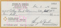 Football Collectibles:Others, 1976 Henry Jordan Signed Check....