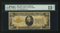 Small Size:Gold Certificates, Fr. 2402 $20 1928 Gold Certificate. PMG Choice Fine 15 Net.. ...