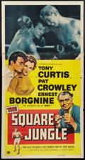 "Movie Posters:Sports, The Square Jungle (Universal, 1955). Three Sheet (41"" X 81""). Sports.. ..."