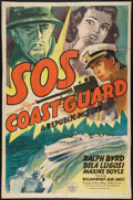 "Movie Posters:Adventure, S.O.S. Coast Guard (Republic, 1937). One Sheet (26.5"" X 40.5"").Adventure.. ..."