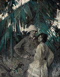 Paintings, DEAN CORNWELL (American, 1892-1960). A Couple in the Jungle, 1923. Oil on canvas. 36 x 28 in.. Signed lower left. ...
