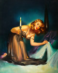 Pin-up and Glamour Art, EDWARD RUNCI (American, 1921-1985). Hidden Treasures, 1949.Oil on canvas. 30 x 24 in.. Signed lower left. ...